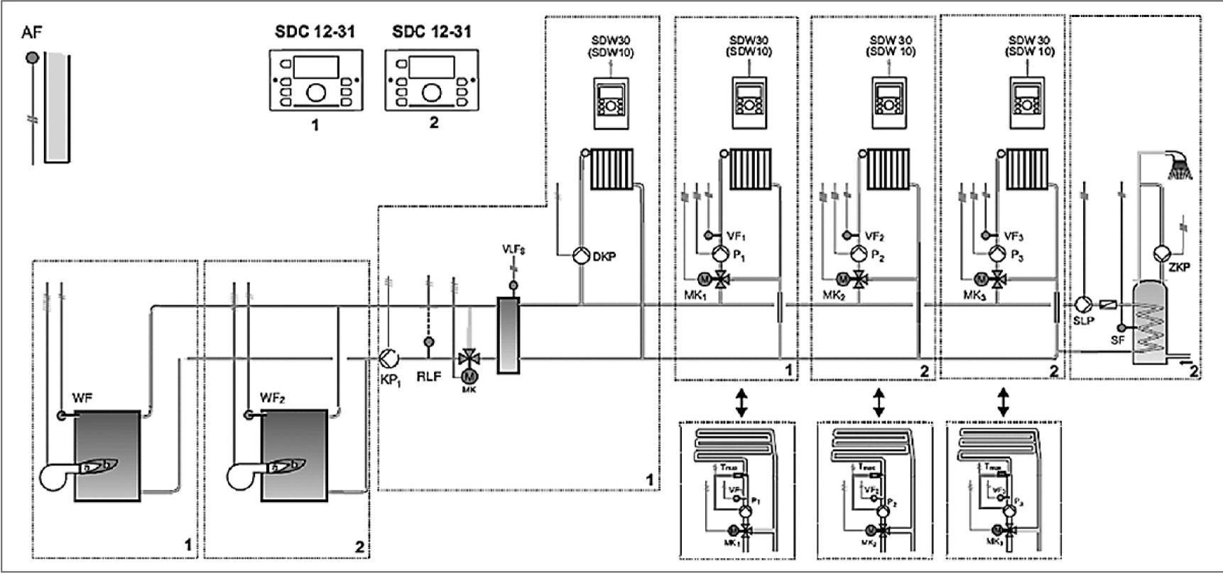 схема автоматики газового котла ханувей