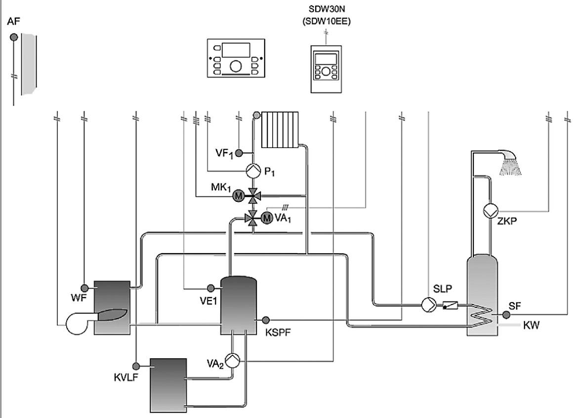 накладной термостат схема подключения