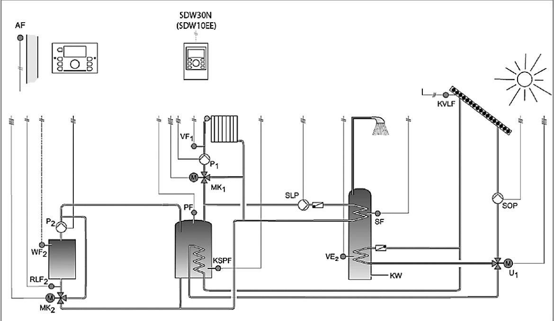 электрическая схема подключение насоса каскад