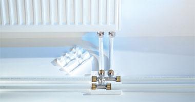 Варианты нижних подключений радиаторов при горизонтальной разводке