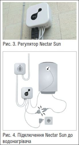 Изображение регулятора и водонагревателя