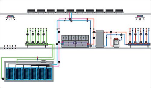 Зображення системи опалення тепловим насосом будинку