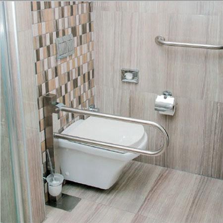 Зображення поручнів-власників з нержавіючої сталі в ванній кімнаті